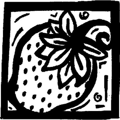Cling Stamp, Strawberry Square