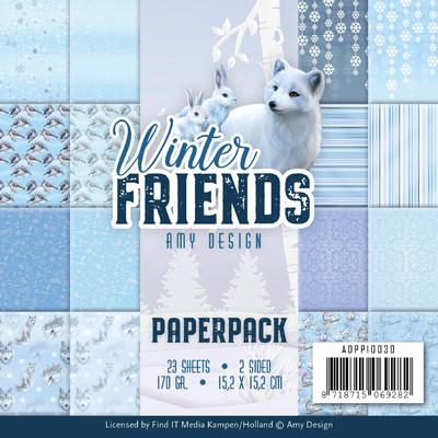 Amy Design 6X6 Paper Pack, Winter Friends