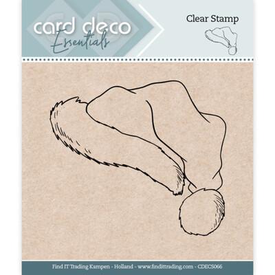 Card Deco Essentials Clear Stamp, Santa Hat