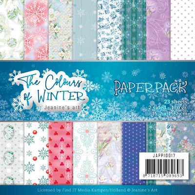 Jeanine's Art 6X6 Paper Pack, The Colors of Winter