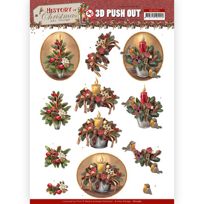 Amy Design 3D Push Out, HOC - Christmas Candles