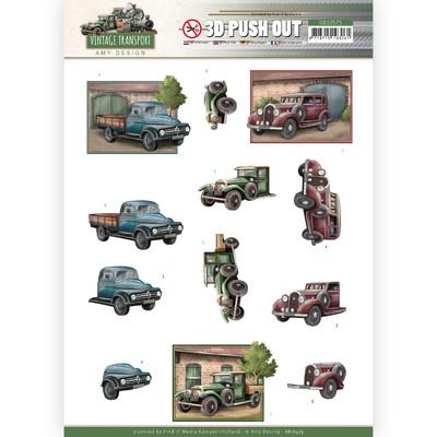 Amy Design 3D Push Out, Vintage Transport - Truck