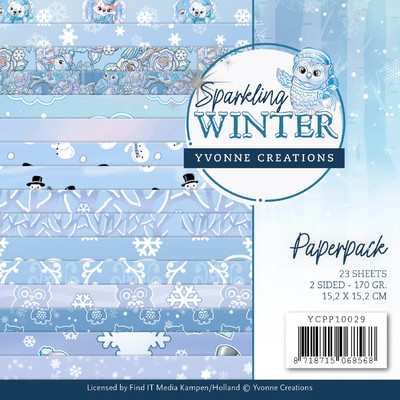 Yvonne Creations 6X6 Paper Pack, Sparkling Winter
