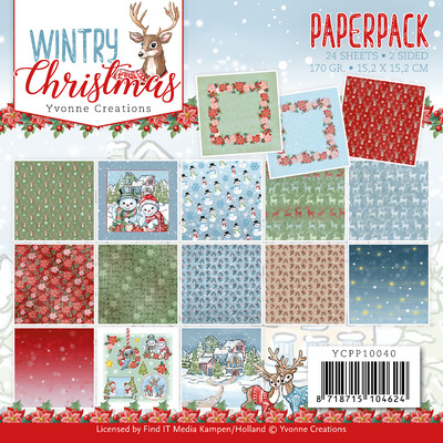 Yvonne Creations 6X6 Paper Pack, Wintery Christmas