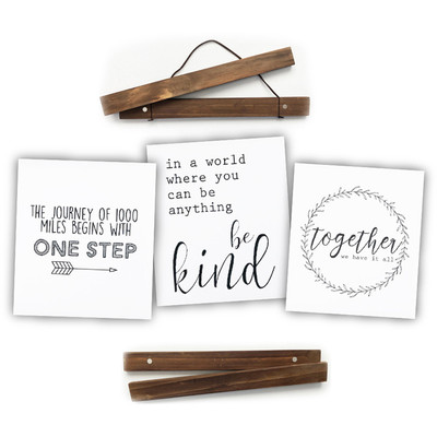 "Click Sticks Set, 12"" Dark Stain (One Step, Be Kind, Together)"