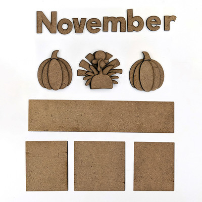 Magnetic Calendar Monthly Kit, November