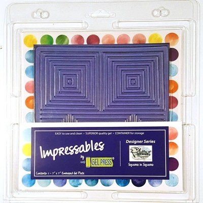 Gel Press, Impressables Squares in squares