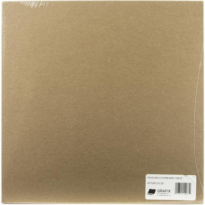 """Chipboard, .057 Natural - 12"""" x 12"""" (25 Pack)"""