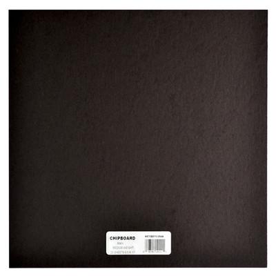 "Chipboard, .057 Black - 12"" x 12"" (25 Pack)"