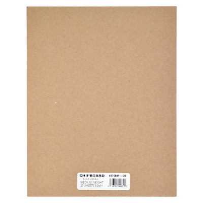 """Chipboard, .057 Natural - 8.5"""" x 11"""" (25 Pack)"""