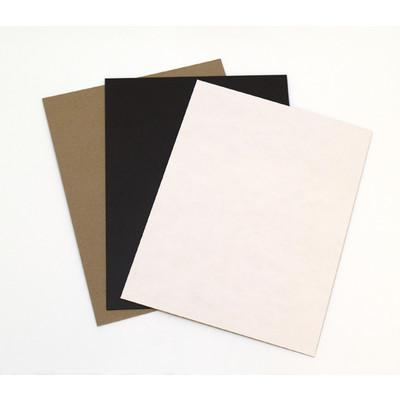 "Chipboard, .057 Black - 8.5"" x 11"" (25 Pack)"