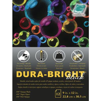 """Craft Plastic Film Pad, .010 Opaque Black - 9"""" x 12"""" (12pc)"""
