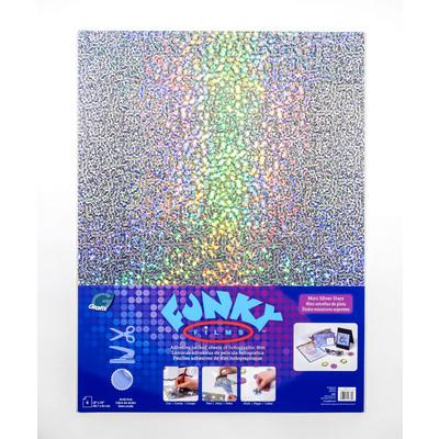 """Funky Film, Mini Silver Stars - 18"""" x 24"""" (6 Pack)"""