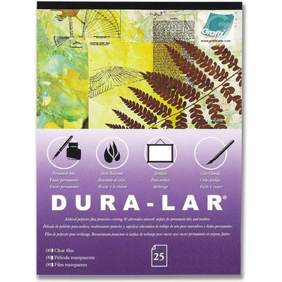 """Clear Dura-Lar Film Pack, .003 - 25"""" x 40"""" (25 Sheets)"""