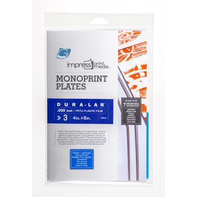 "Impress Print Media Monoprint Plate, .030"" - 4"" x 6"" (3 Pack)"