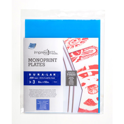 "Impress Print Media Monoprint Plate, .030"" - 8"" x 10"" (3 Pack)"