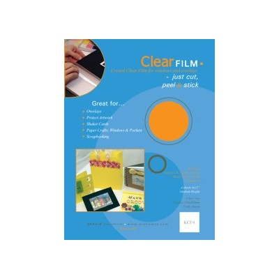 """Clear Film Convenience Pack, .005 - 9"""" x 12"""" (4 Pack)"""