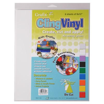 "Cling Vinyl Film, Clear - 9"" x 12"" (6 Pack)"