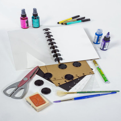 6X9 Disc-Bound Mixed Media Journal, Assorted Surfaces