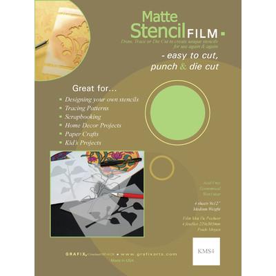 """Stencil Film Convenience Pack, .005 Matte - 9"""" x 12"""" (4 Pack)"""