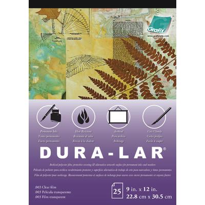 """Clear Dura-Lar Film Pad, .003 - 9"""" x 12"""" (25 Sheets)"""