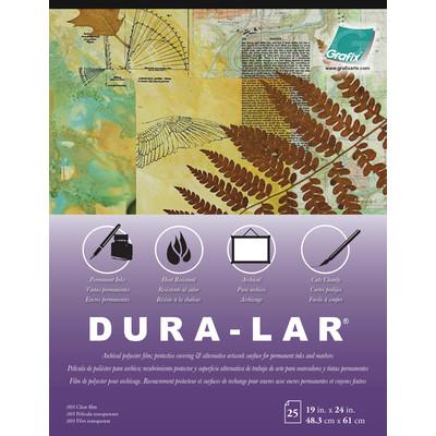 """Clear Dura-Lar Film Pad, .003 - 19"""" x 24"""" (25 Sheets)"""
