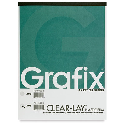 """Clear-Lay Film Pad, .005 - 9"""" x 12"""" (25 Sheets)"""