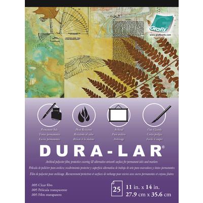 """Clear Dura-Lar Film Pad, .005 - 11"""" x 14"""" (25 Sheets)"""