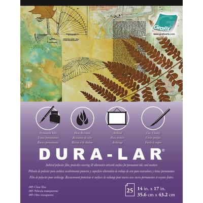 """Clear Dura-Lar Film Pad, .005 - 14"""" x 17"""" (25 Sheets)"""