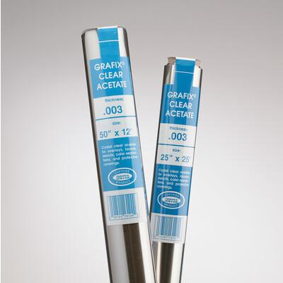 """Clear Acetate Film Roll, .003 - 25"""" x 50'"""