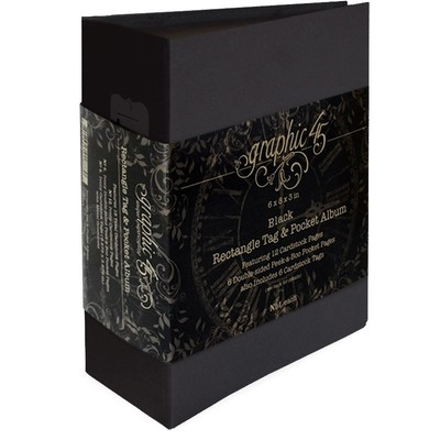 Tag & Pocket Album, Black - Rectangle