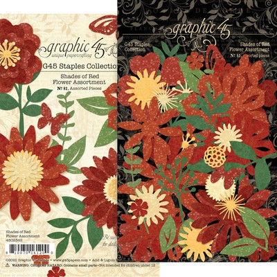 Flower Assortment, Shades of Red
