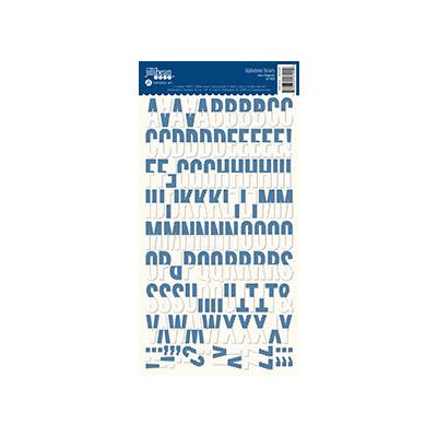 Alphabean Stickers, Navy Diag