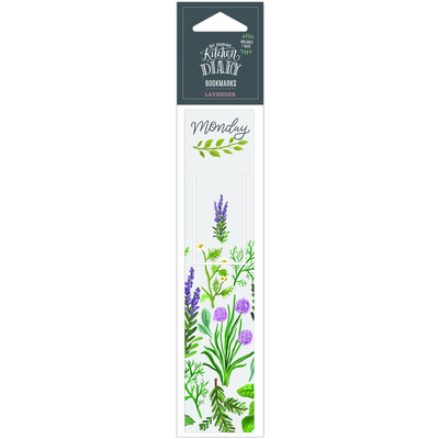 Kitchen Diary Bookmark, Floral Lavender
