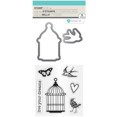 Clear Stamp & Die Set, Live Your Dreams