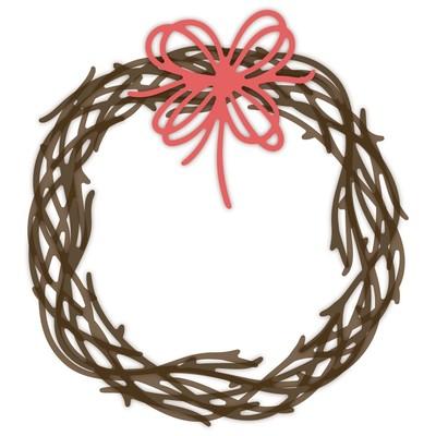 Honey Cuts Die, Grapevine Wreath