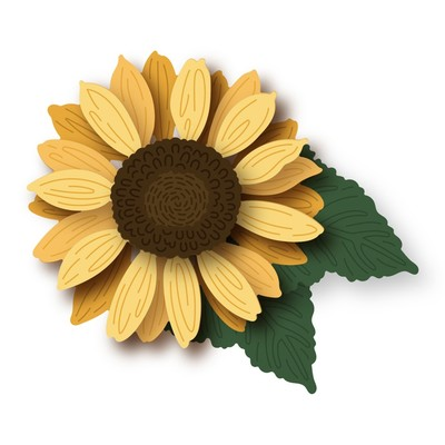 Honey Cuts Die, Lovely Layers: Sunflowers
