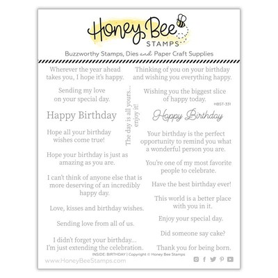Clear Stamp, Inside: Birthday Sentiments
