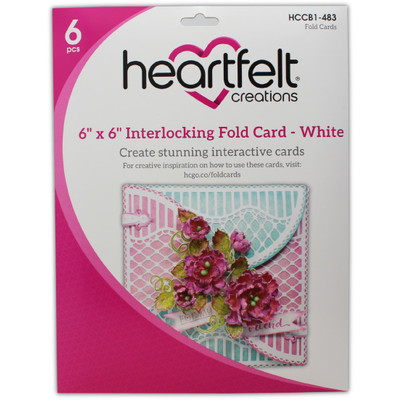 6X6 Interlocking Fold Card, White