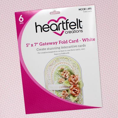5X7 Gateway Fold Card, White