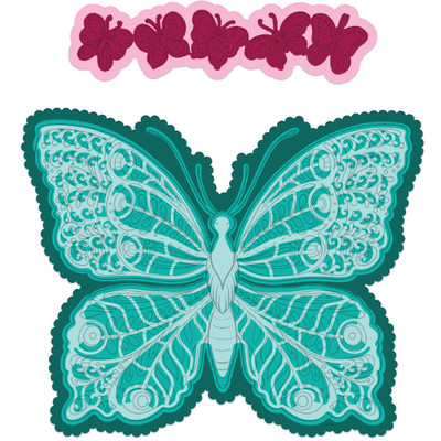 Die, Floral Butterfly - Large Floral Butterfly