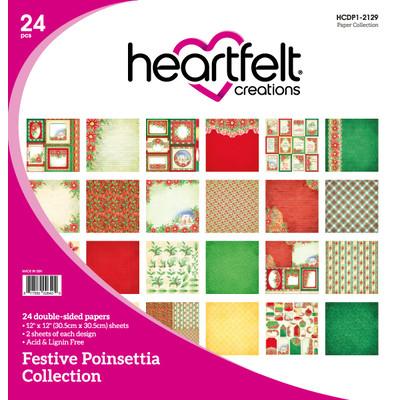 12X12 Paper Collection, Festive Poinsettia