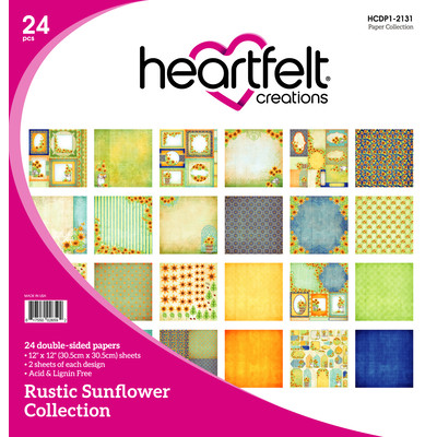12X12 Paper Collection, Rustic Sunflower