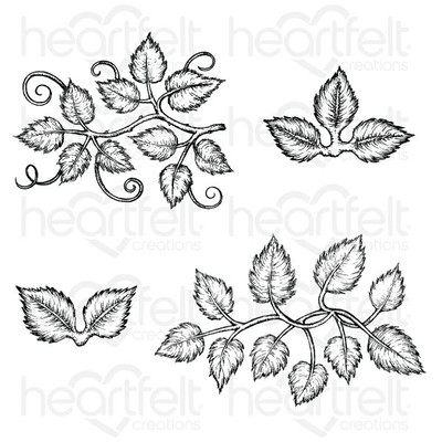 Cling Stamp Set, Leafy Accents