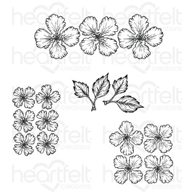Cling Stamp Set, Oakberry Lane Blossoms