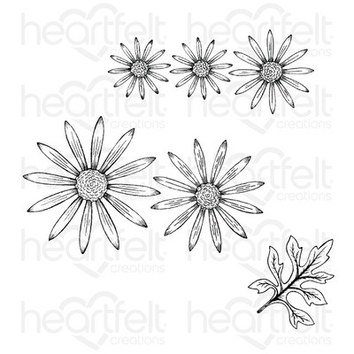 Cling Stamp, Wild Aster
