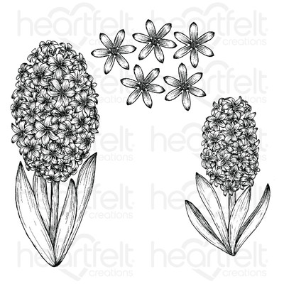 Cling Stamp, Spring Garden - Fragrant Hyacinth