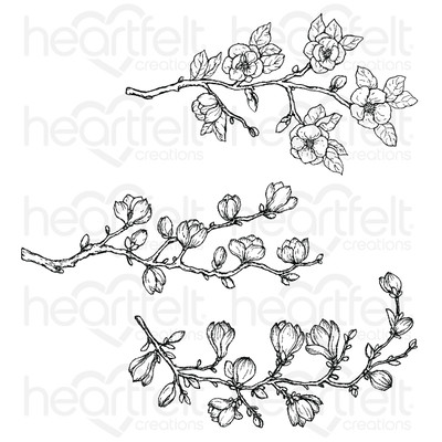 Cling Stamp, Sweet Magnolia - Buds