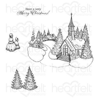 Cling Stamp, Home for the Holidays - Holiday Village