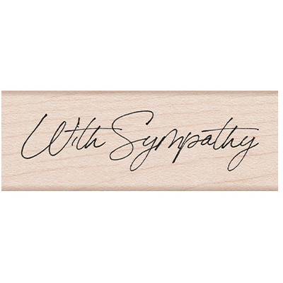 Wood Stamp, Cursive With Sympathy